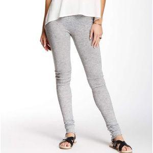 Free People heather gray knit lounge leggings